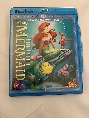 The Little Mermaid (Diamond Edition- Blu-ray) Very Good, Free Shipping.