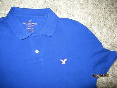 97b56f92d3 Men's EUC short sleeve polo shirt by American Eagle Outfitters Size L Blue