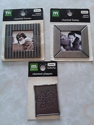 Making Memories 2 Bead Board Charmed Frame and 1 Plaque Craft Lot