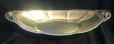 William De Matteo Sterling Blossom Handle Tray in Jensen Style