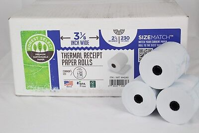 "Forest Select Premium Thermal Receipt Paper Roll, White, 3-1/8"" x 230', 32 Rolls"