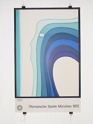 Poster Plakat - Olympiade 1972 München - Jan Lenica - olympic games