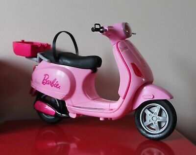 "BARBIE Pink 12"" VESPA SCOOTER Mattel 2008 Toy BIKE Moped Motorcycle (Used)"