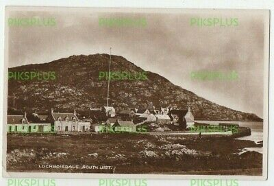 Postcard Lochboisdale South Uist Island Outer Hebrides Real Photo Postmark 1934