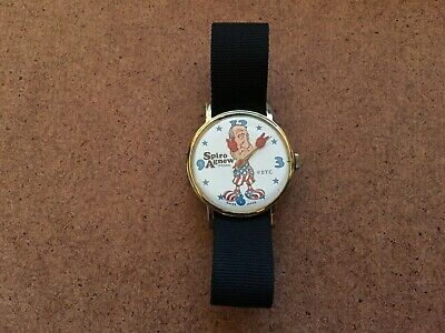 Vintage Dirty Time Co. Spiro Agnew Vice President Swiss Made Wrist Watch