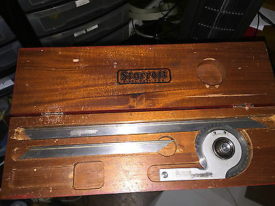 "Starrett No. 364 Vernier Protractor Beveled 7"" 12"""
