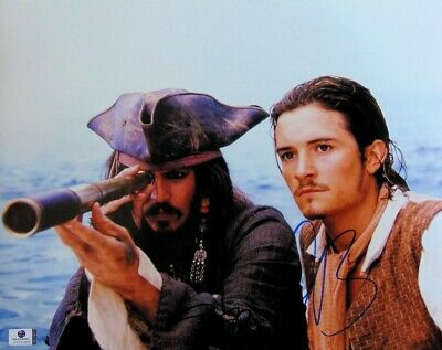 Johnny Depp Orlando Bloom Dual Signed11X14 Photo Pirates of Caribbean GV731833