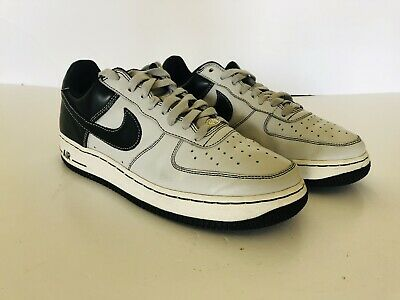 21d57d34a9b2 Nike Air Force 1 One Black Gray White Oakland Raiders 313642 001 Size 8.5