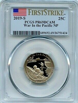 2019 S 25c War In The Pacific National Parks PCGS PR 69 DEEP CAMEO First Strike
