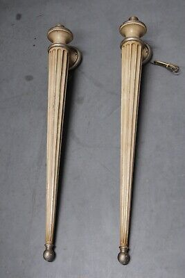 Pair sconces torches wall lights carved antique Fine Art Lamps 90cm tall Deco