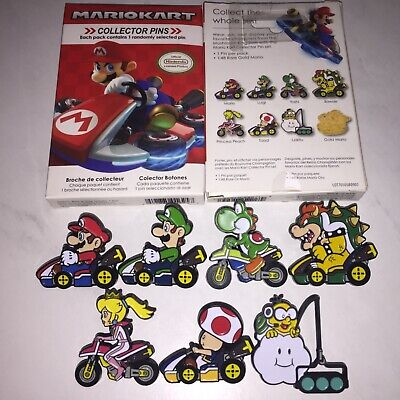 SET OF 7 Nintendo Super Mario Kart Series 2 Collector Pins - FREE SHIPPING