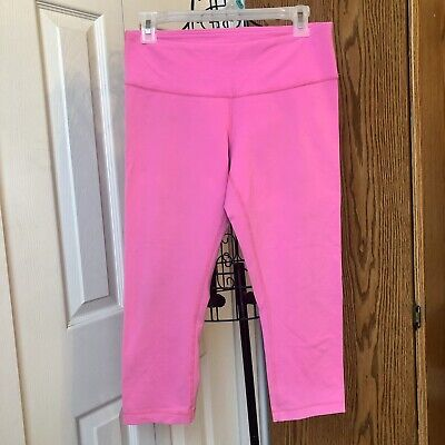 dd5fd1780f3fdd Lululemon Wunder Under Size 8 Electric Pink Rare Crop Pants Leggings
