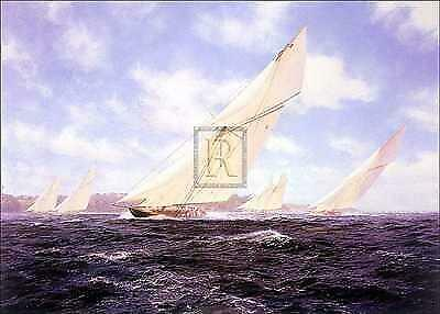 Steven Dews 'Britannia' off Cowes Signed Canvas Limited Edition of 50