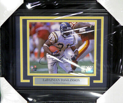 Ladainian Tomlinson Autographed Signed Framed 8X10 Photo Chargers Lt Holo 108009