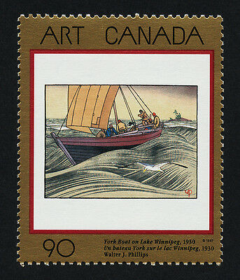 Canada 1635 MNH Art, York Boat, Lake Winnipeg