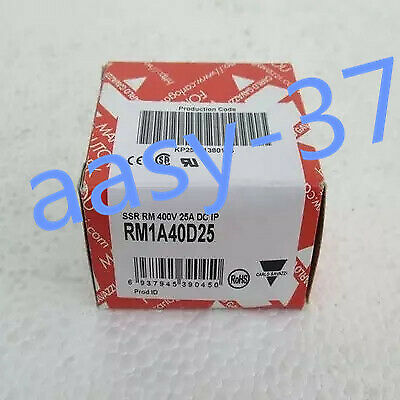 1 PCS NEW IN BOX CARLO GAVAZZI Solid State Relay RM1A40D25 25A