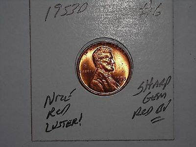 wheat penny 1953D LINCOLN CENT 1953D NICE GEM RED BU LOT #6 UNC SHARP RED LUSTER