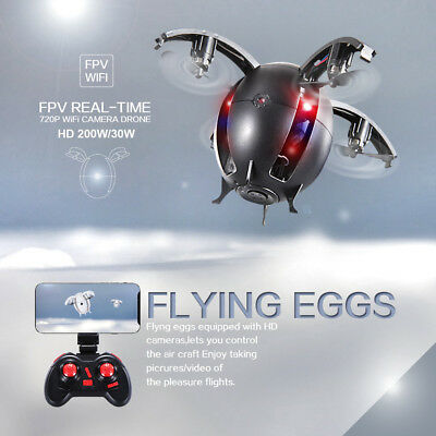WIFI FPV 4CH 6-Axis Gyro HD Camera RC Quadcopter Folding Transformable Egg Drone