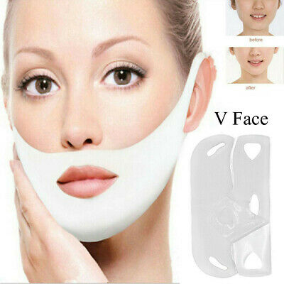 Reduce Double Chin Face-lift Face Slimming Hanging Ear V Shape Facial Thin Mask