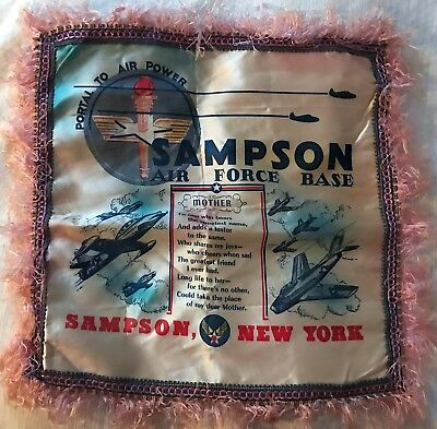 WWII SAMPSON AIR FORCE BASE New York SENECA Military SILK Mother USAF AFB Planes