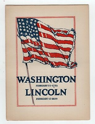 1940s GEORGE WASHINGTON Abraham Lincoln BIRTHDAY Celebration PAMPHLET Prudential