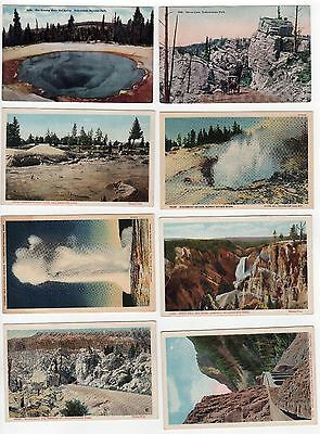 YELLOWSTONE NATIONAL PARK PC Postcard WYOMING NPS Geyser SILVER GATE Canyon