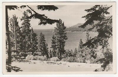 Lac Tahoe Cppr Véritable Photo Carte Postale California Nevada Placer Rare ca Nv