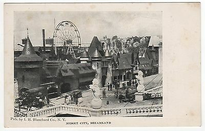 Coney Island Pc Postkarte New York City Nyc Freizeitpark Midget Stadt Dreamland