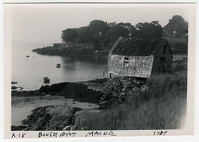 1939 Boothbay Maine Fotografie Foto Hafen Shack Boote Lincoln County Me