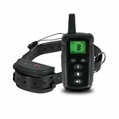 Rechargeable Waterproof Remote LCD Electric Shock Vibrate Dog Training Collar RU