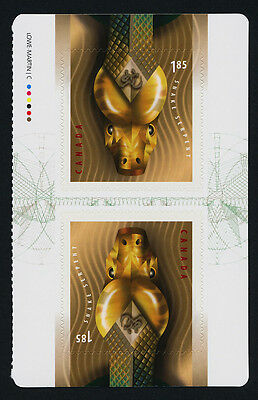 Canada 2601 Booklet Pane MNH Year of the Snake, Lunar New Year