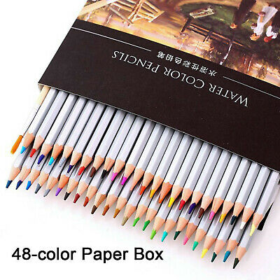 36 48 Water Soluble Water Color Wooden Pencil Artist Aquarelle Drawing Sketching