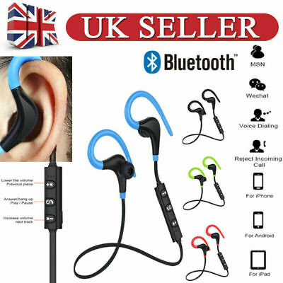 Wireless Bluetooth 4.2 Earphones Headset Super Bass Sports Headphones w/ Mic UK