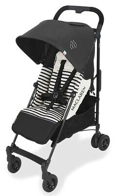 Maclaren Baby Quest ARC Lightweight Umbrella Fold Stroller Railroad Stripe NEW