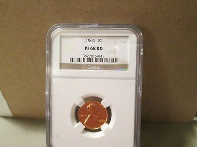 1964 Lincoln Cent Proof  Ngc  Pf68  Rd    041