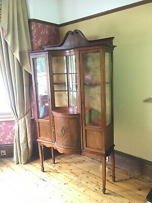 Edwardian Mahogany Tall Display Unit