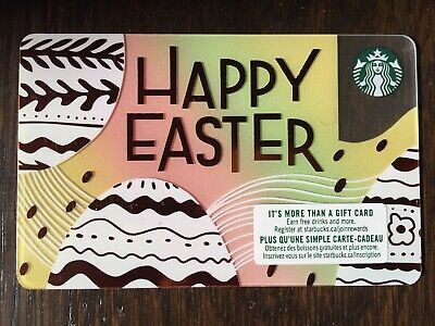 "Canada Series Starbucks ""HAPPY EASTER 2019"" - Plastic Gift Card - New - No Value"