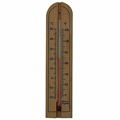 Wooden Wall Thermometer to measure room temperature in both C&F
