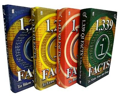 QI Facts Series 4 Books Collection Set New 1339 QIFacts To Make Your Jaw Drop