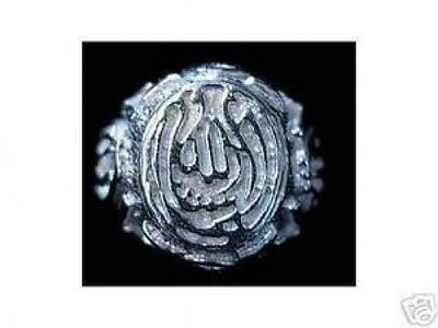 COOL Allah Ring Islamic Muslim Sterling Silver 925 Jewelry