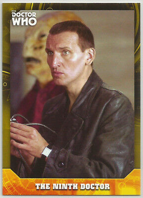 Doctor Who Serie Firmas 2017 ~ Amarillo Base Parallel Card #9 Ninth Dr #16/25