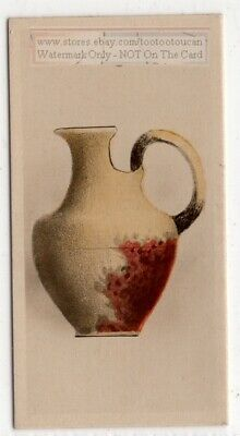 Ancient Roman Etruscan Vase  Pottery Ceramic 1920s Trade Ad  Card