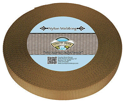 Country Brook Design® 1 Inch Coyote Tan Heavy Nylon Webbing, 10 Yards