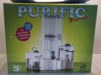 Purific Premium Blue 3 Gallon Water Purifier-No Electricity/Plumbing Required
