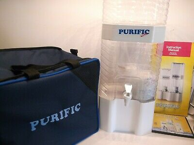 Purific Premium White 2 Gallon Water Purifier With Canvas Carrier-No Electricity