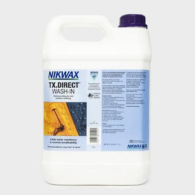 Nikwax TX DIRECT 5 Litre WASH-IN Bottle Waterproofs 50 Jackets Wet Weather Gear