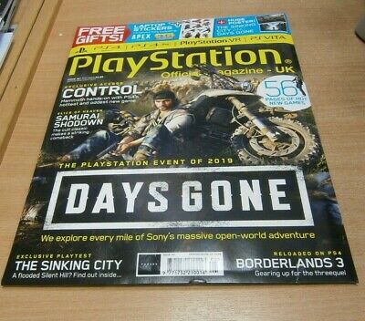 Playstation Official magazine UK #161 MAY 2019 Days Gone Control Samurai Shodown