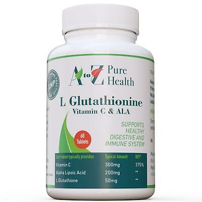 L-Glutathione, 60 Tablets, Healthy digestive and immune system