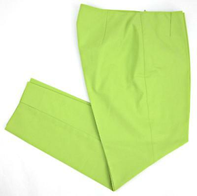 Lafayette 148 Stanton Appletini Green Fundamental Bi-Stretch Cropped Pants Sz 6