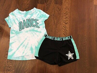 EUC Justice Dance Tie Dye Top And Shorts 12
